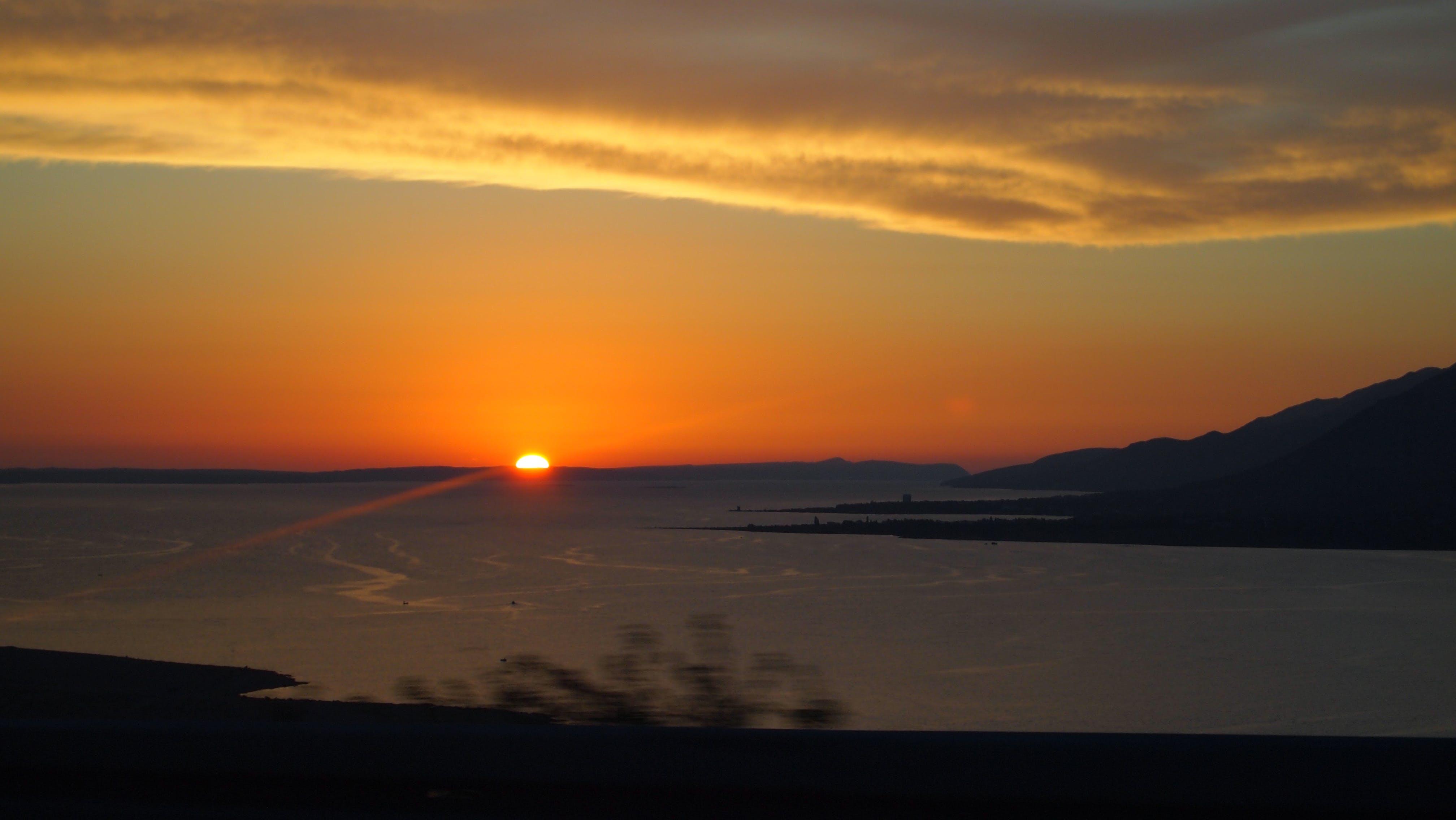 夏, 日没, 海, 海岸の無料の写真素材
