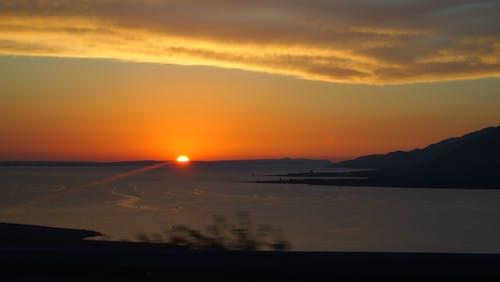 Бесплатное стоковое фото с берег, закат, лето, море