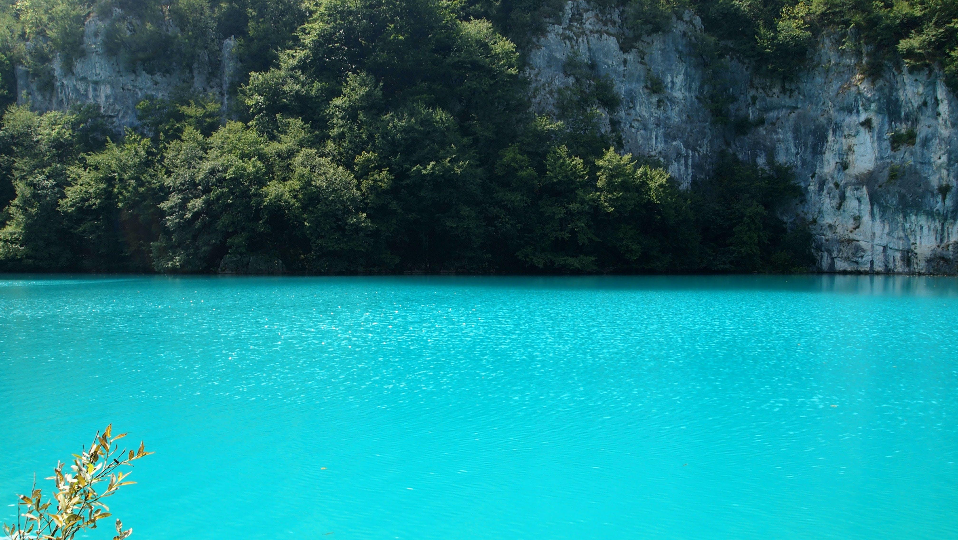 คลังภาพถ่ายฟรี ของ plitviä ka jezera, สีน้ำเงิน, หิน