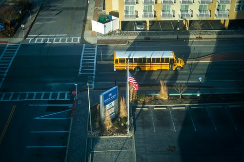 Yellow Bus On Road