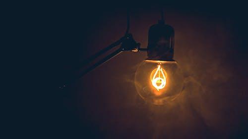 Gratis lagerfoto af appelsin, lampe, lys