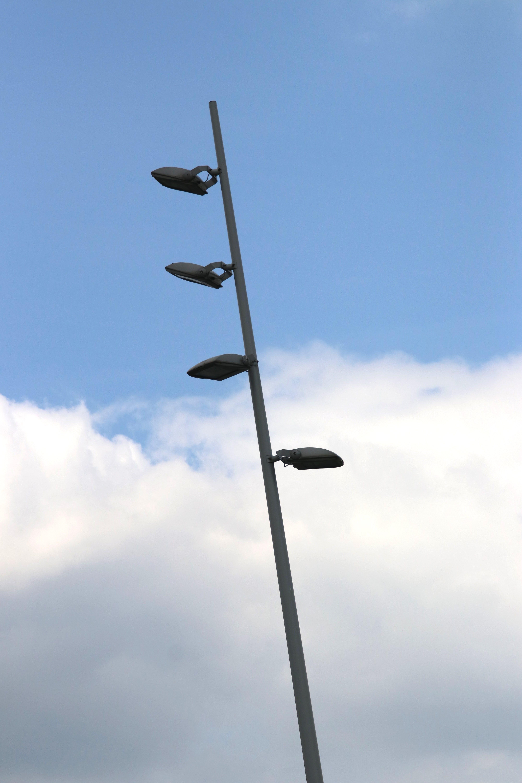 Free stock photo of street, blue sky, cloud, street lamp