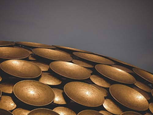 Black and Brown Round Decor