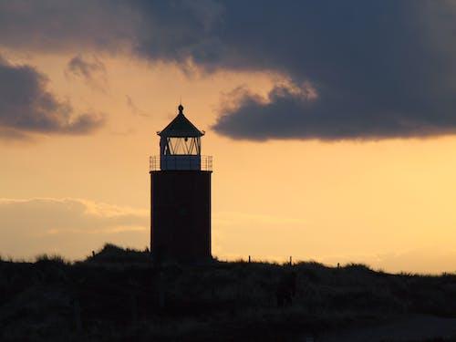 Kostenloses Stock Foto zu dämmerung, himmel, hinterleuchtet, leuchtturm