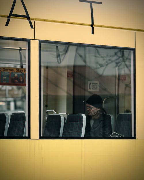 Ingyenes stockfotó ablak, busz, Férfi, ingázik témában