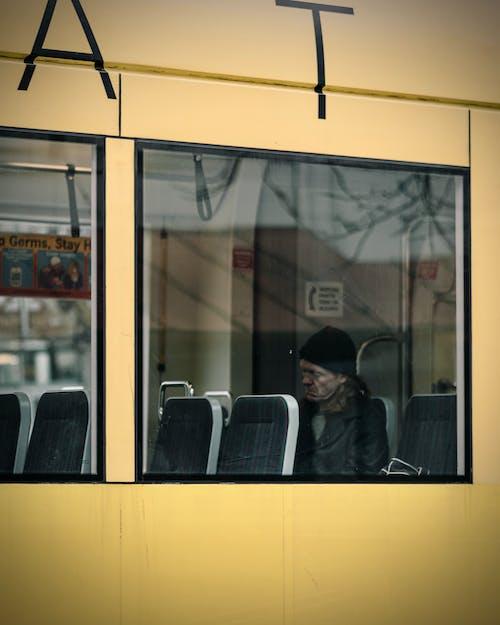 Man Inside A Bus