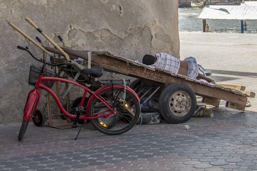 คลังภาพถ่ายฟรี ของ bicicletta, carro, persone