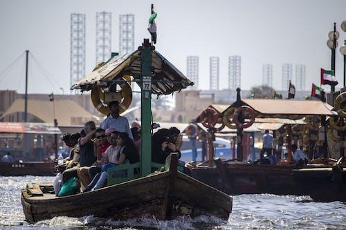 คลังภาพถ่ายฟรี ของ barca, canale, fiume