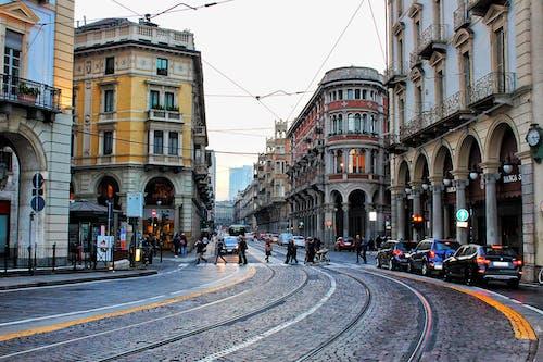 คลังภาพถ่ายฟรี ของ automobili, persone, semafori
