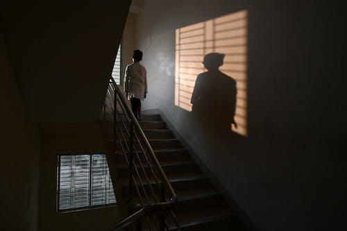 Foto d'estoc gratuïta de clareja, escales, finestra, infant