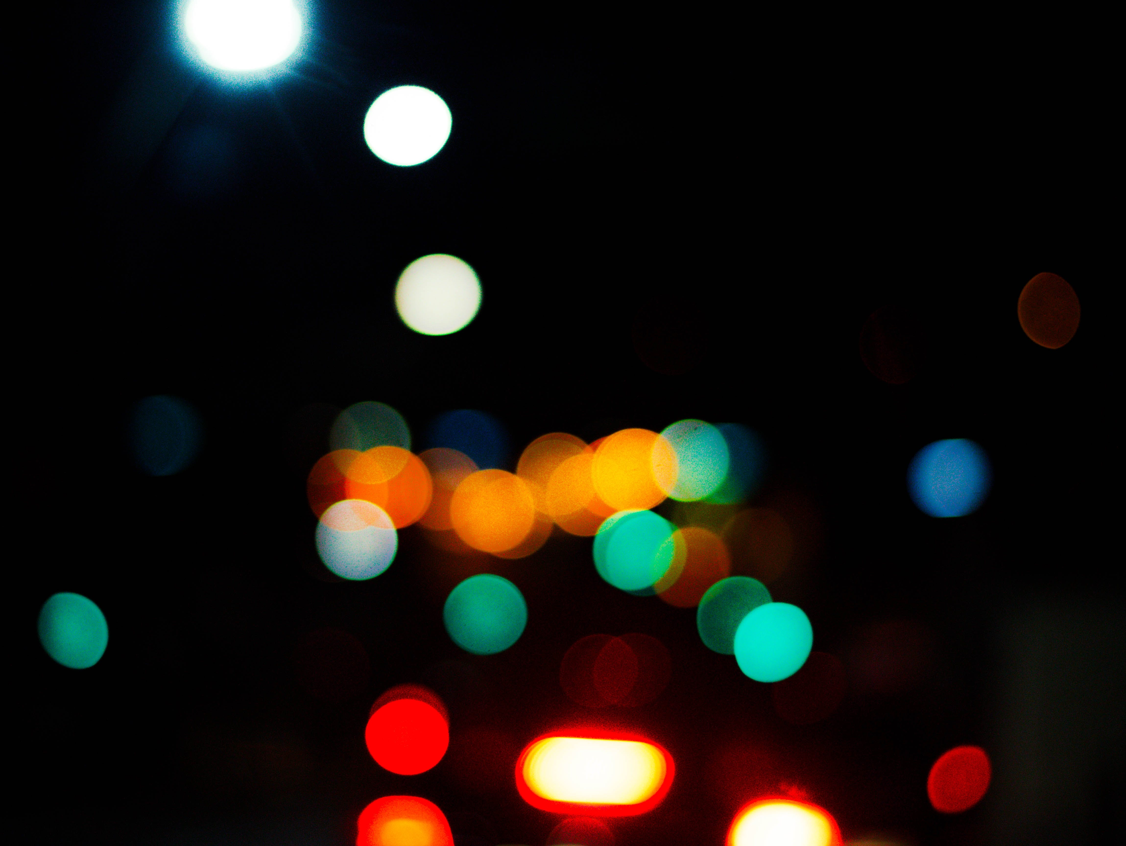 Turned-on Bokeh Lights