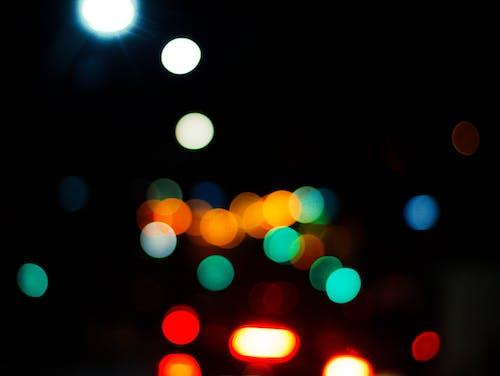 Základová fotografie zdarma na téma rozmazaný, rozostření, světla, tmavý