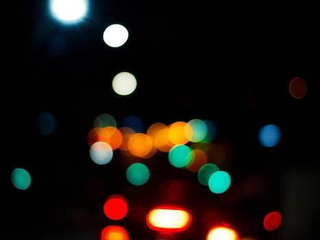 Free stock photo of lights, dark, blur, bokeh