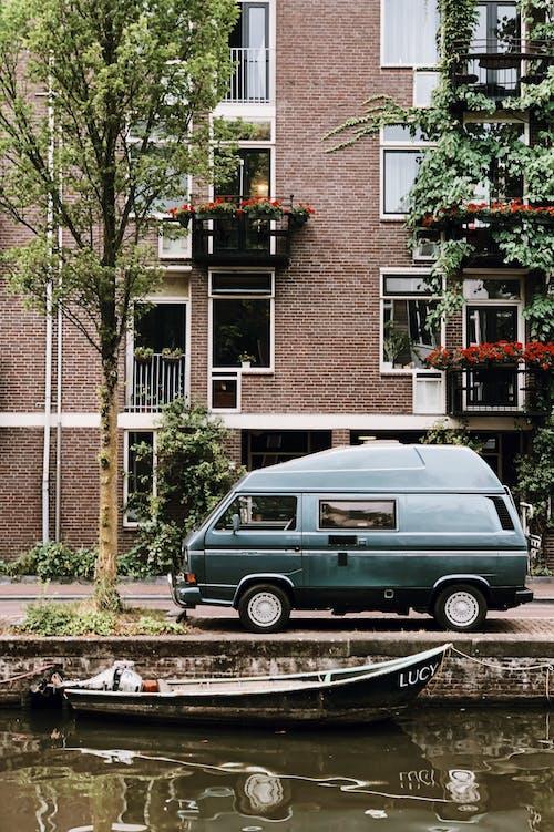 Δωρεάν στοκ φωτογραφιών με Άμστερνταμ, αρχιτεκτονική, αυτοκίνητο, βαν