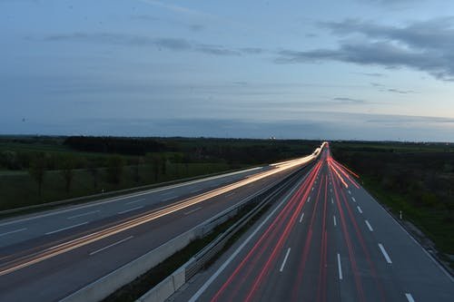 Δωρεάν στοκ φωτογραφιών με time lapse, αδειάζω, άσφαλτος, αυγή