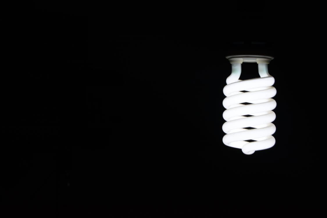 White Twist Light Bulb