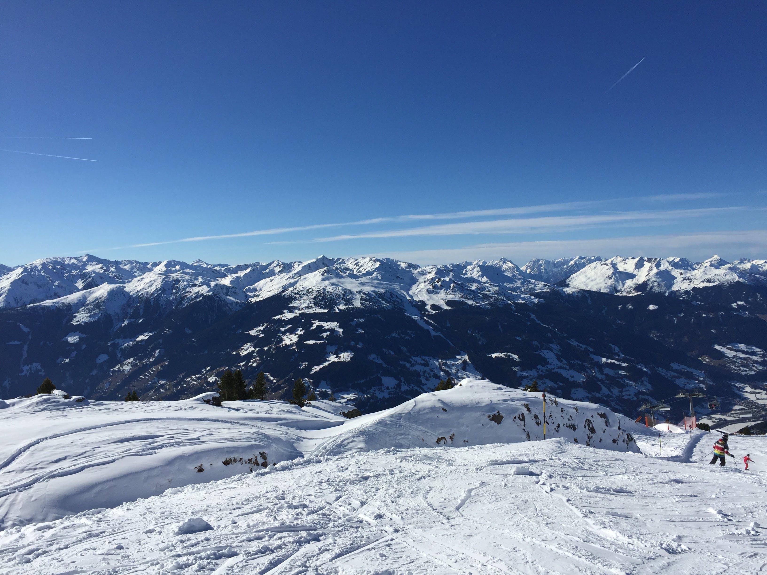 Free stock photo of mountains, ski run, sky view, snow