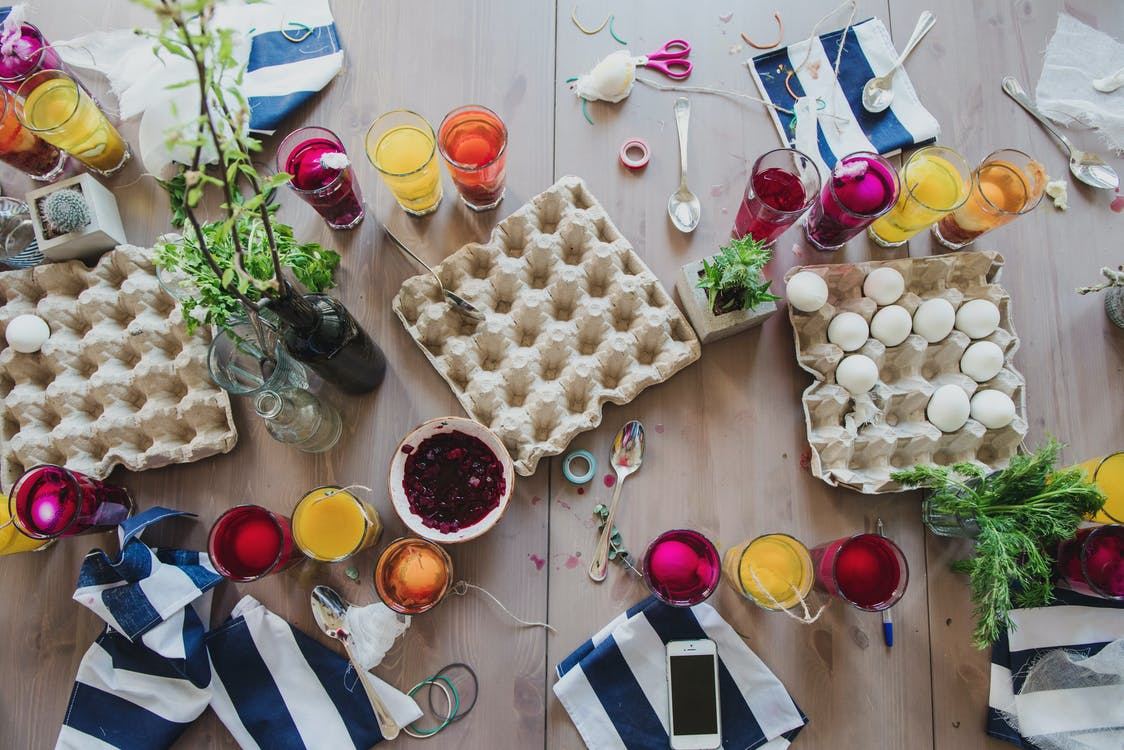 Assorted Items on Brown Wooden Table