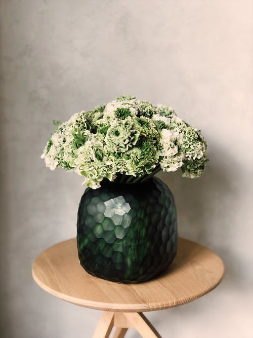 Green Flowers in Vase