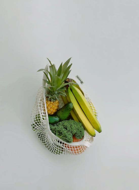 Fruits And Vegetable In A Bag