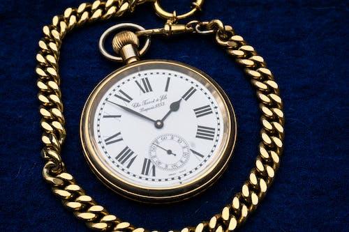 Kostnadsfri bild av Analog klocka, antik, fickur, guld