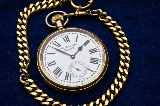 Gold Link Pocket Watch