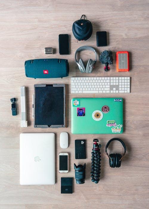 Free stock photo of flatlay, modern technology, technology