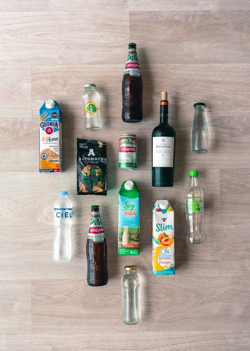 Flat Lay Of Assorted Drinks