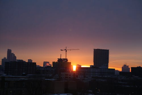chicago sunrise içeren Ücretsiz stok fotoğraf