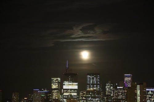 chicago moon rise içeren Ücretsiz stok fotoğraf
