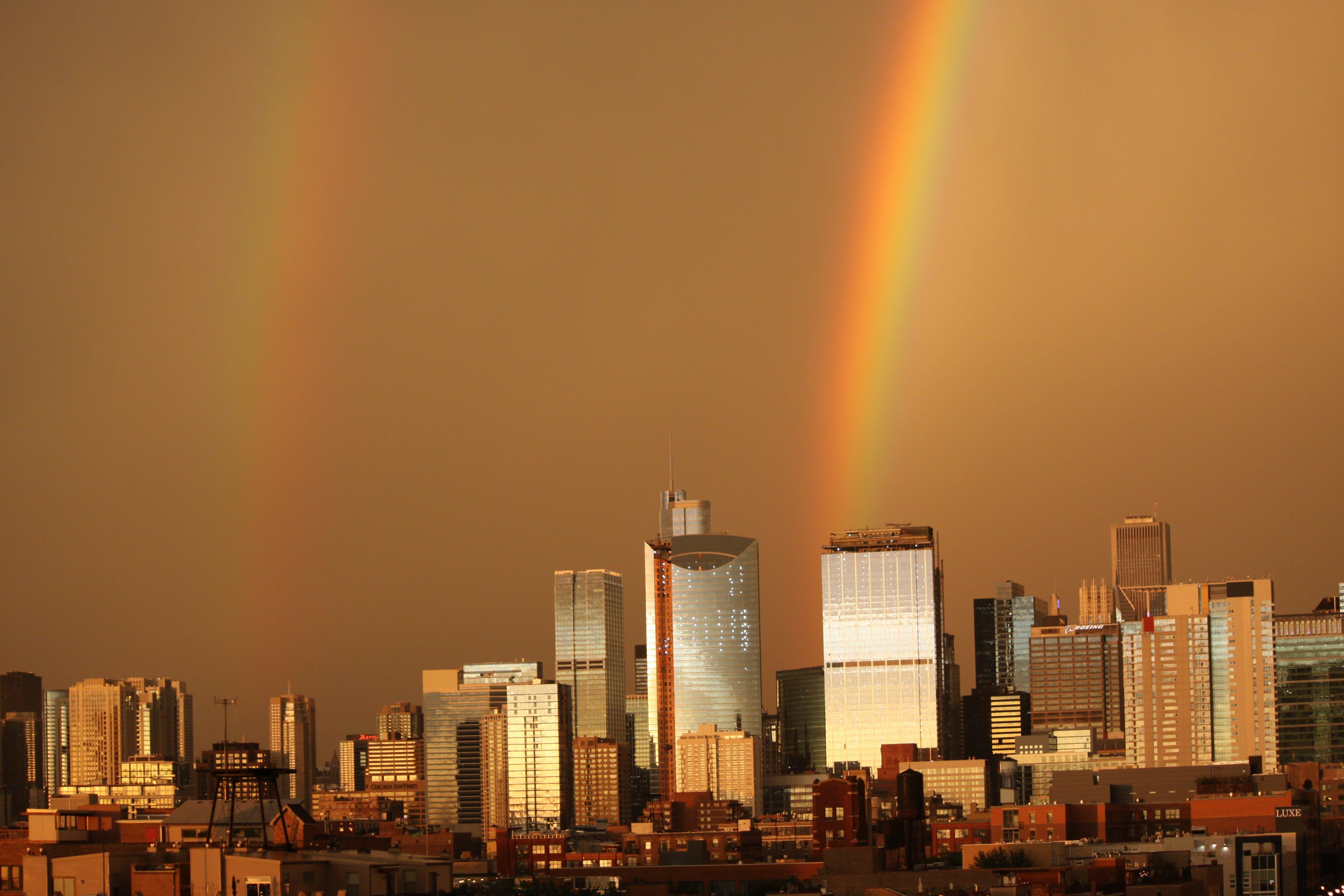 Free stock photo of Chicago Double Rainbow
