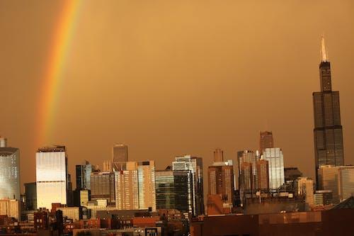 chicago çift gökkuşağı içeren Ücretsiz stok fotoğraf