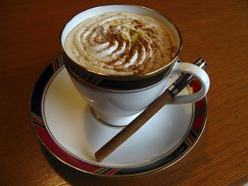 cappuccino, espresso, Fincan, içecek içeren Ücretsiz stok fotoğraf