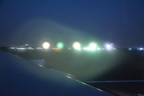 Kostnadsfri bild av flygvy, staden på natten
