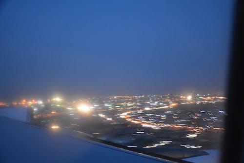 Kostnadsfri bild av flygvy, nattlampor, stadsljus