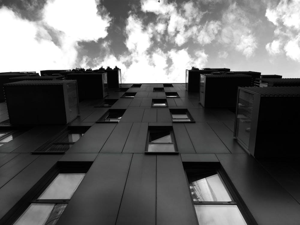 arkitektur, balkon, bygning