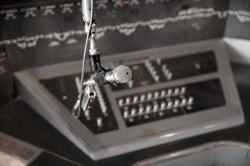 Free stock photo of equipment, microphone, train, train station