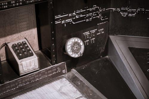 Free stock photo of equipment, rotary dial, train, train station