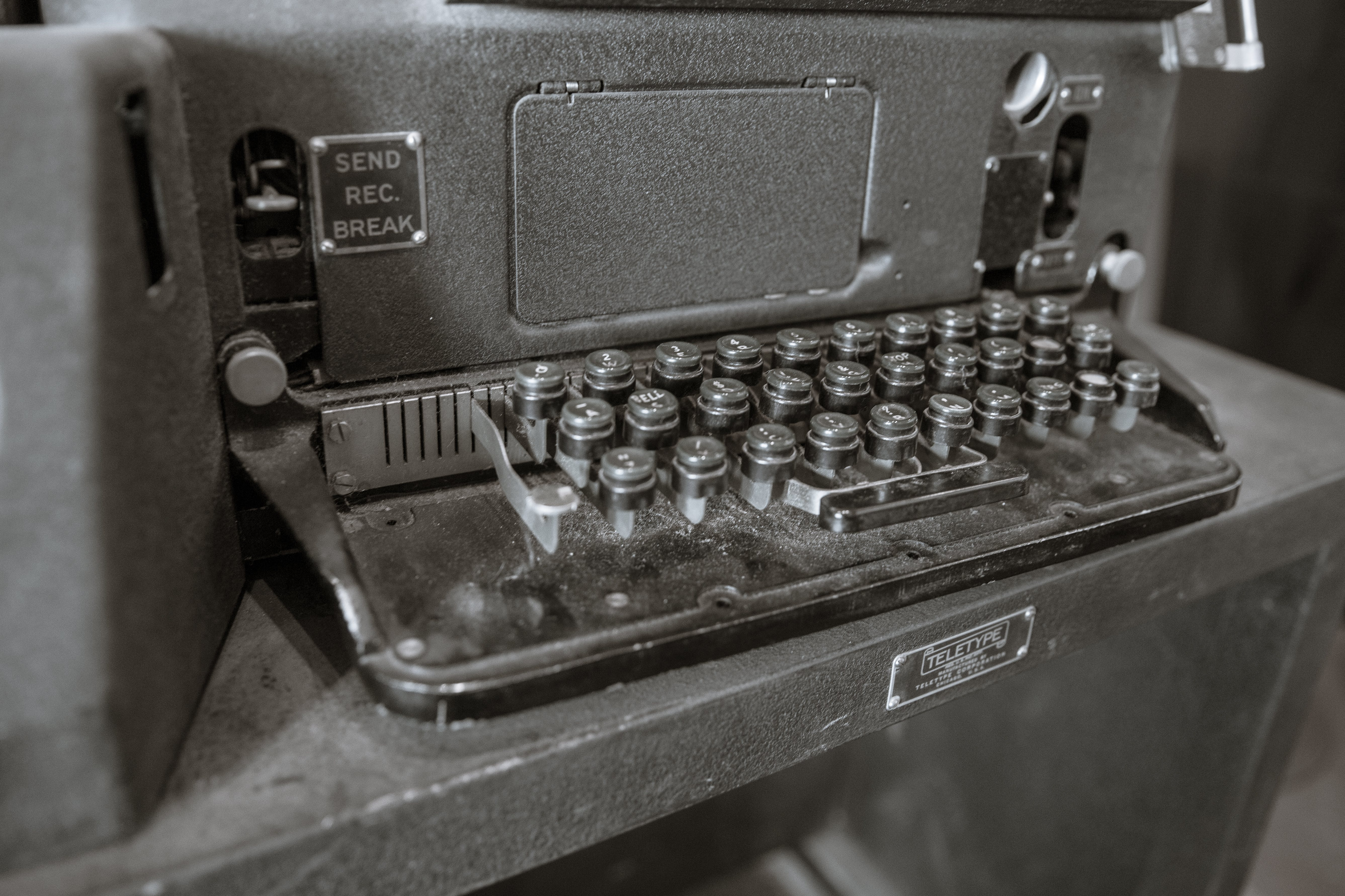 Free stock photo of equipment, tele type, teletype, train