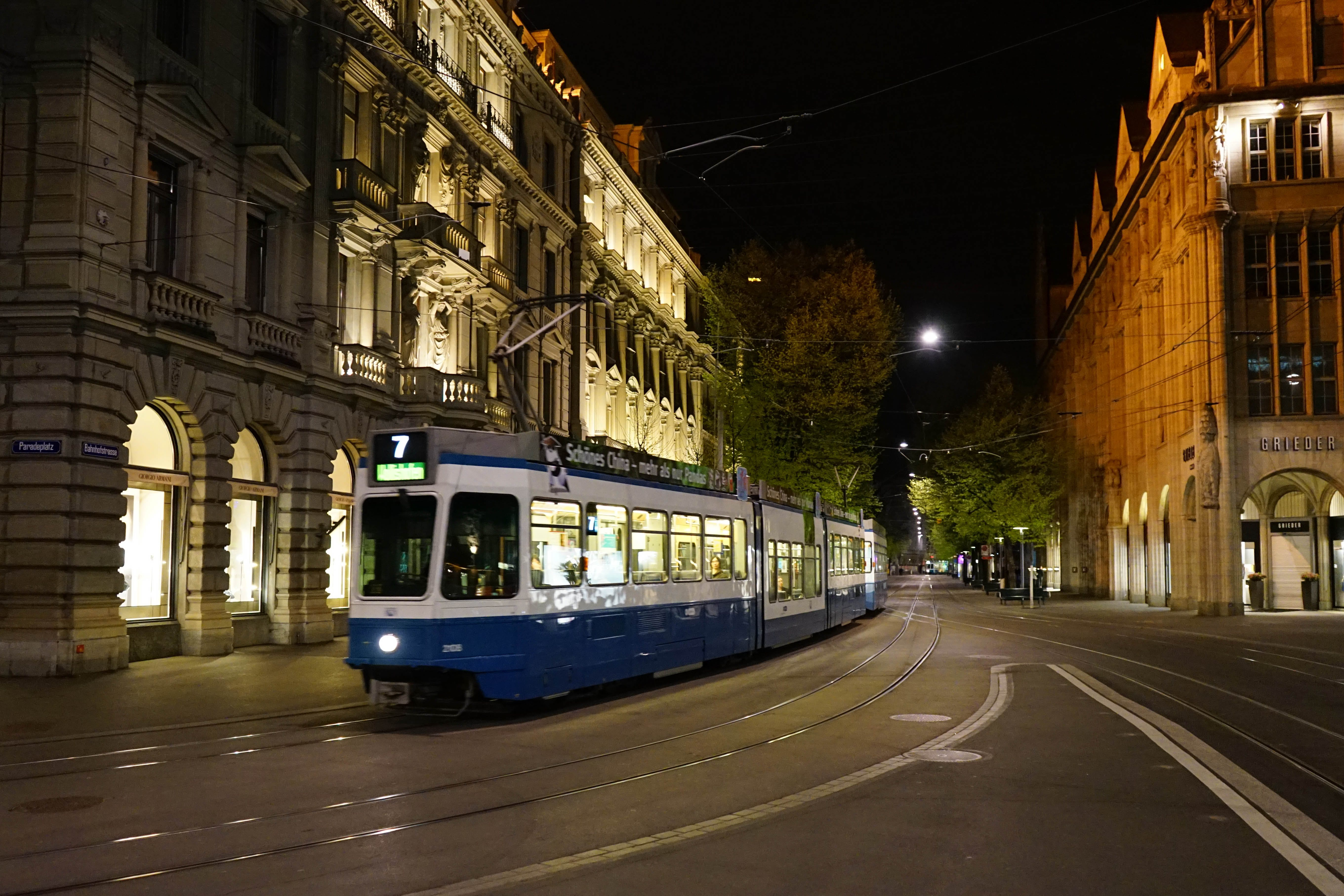 Free stock photo of old town, tram, tram lines, zurich