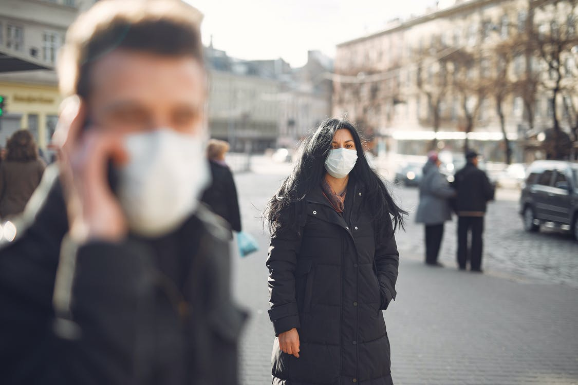 people wearing face masks
