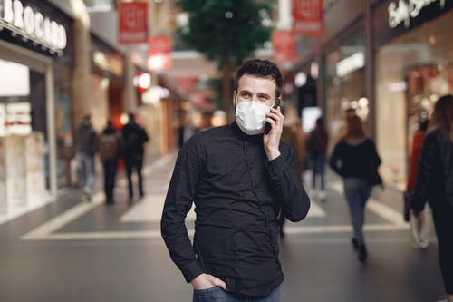 Man in Black Long Sleeve Shirt Covering His Face With His Hand