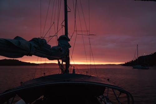 Ingyenes stockfotó naplemente, vitorláshajó témában