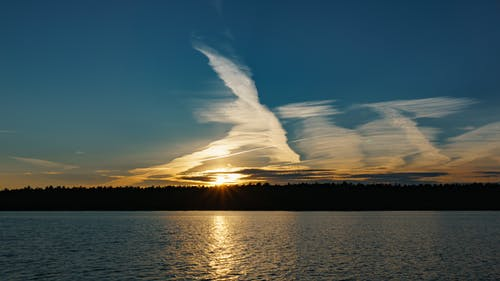 帆, 日落, 雲 的 免费素材照片