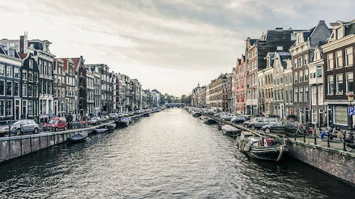 Free stock photo of amsterdam, canal, city