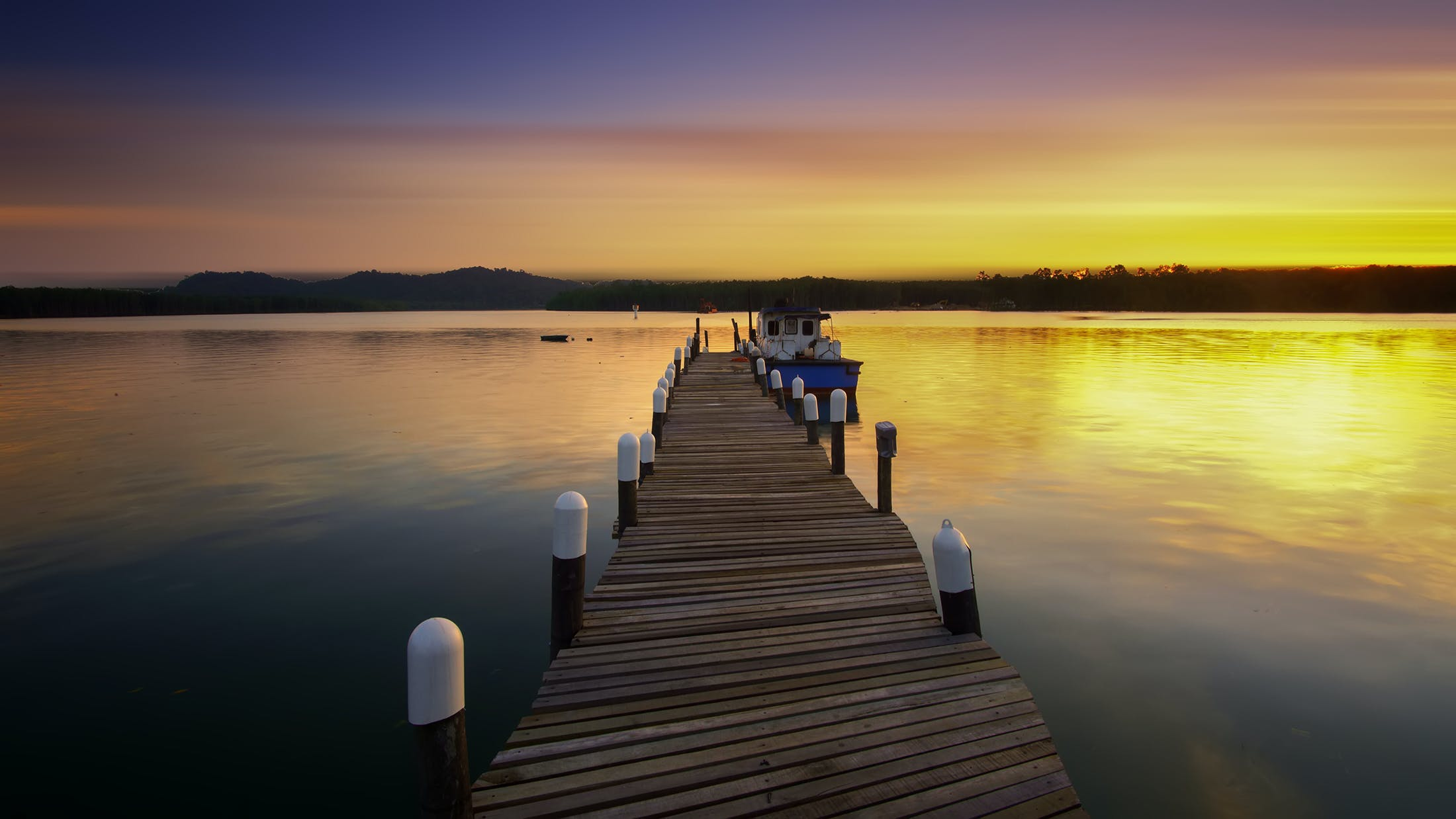 Free stock photo of jetty, dawn, sky, sunset