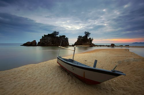 Boat Parked on the Seashore