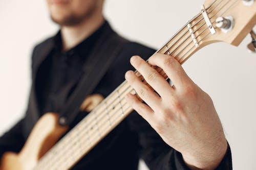 インドア, エレキギター, おとこの無料の写真素材