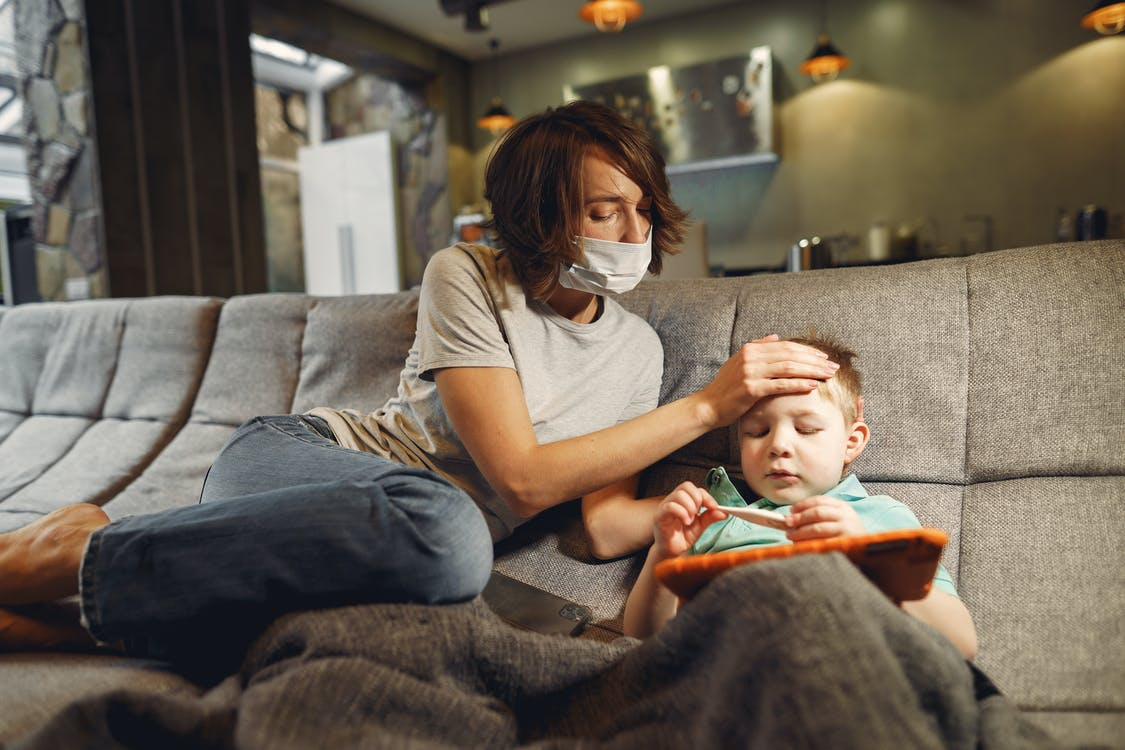 Worried About Her Sick Son