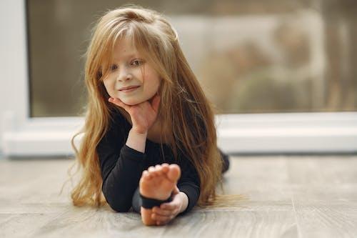 Little Girl Doing Split